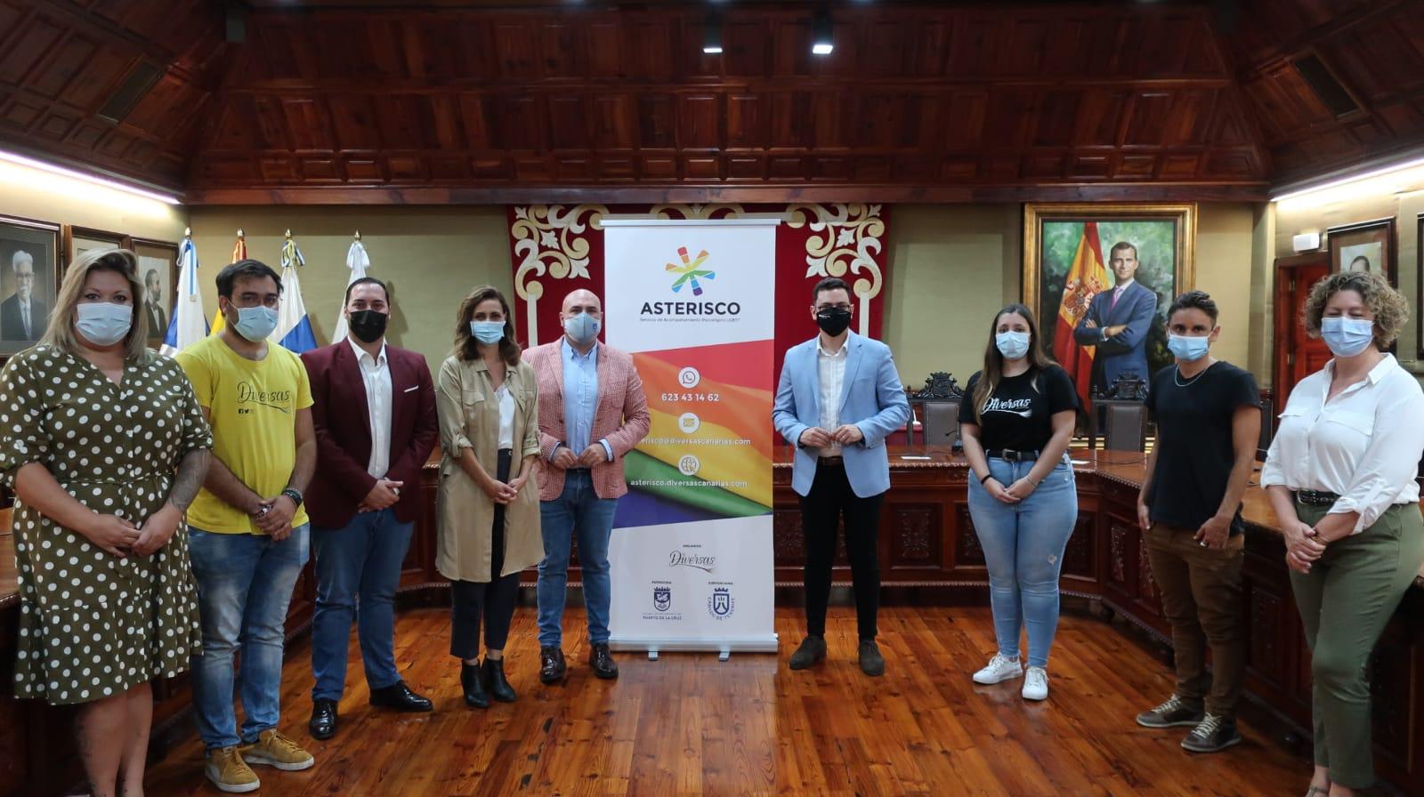 Asterisco, nuevo servicio de acompañamiento psicológico para las personas LGBTI* . Tenerife