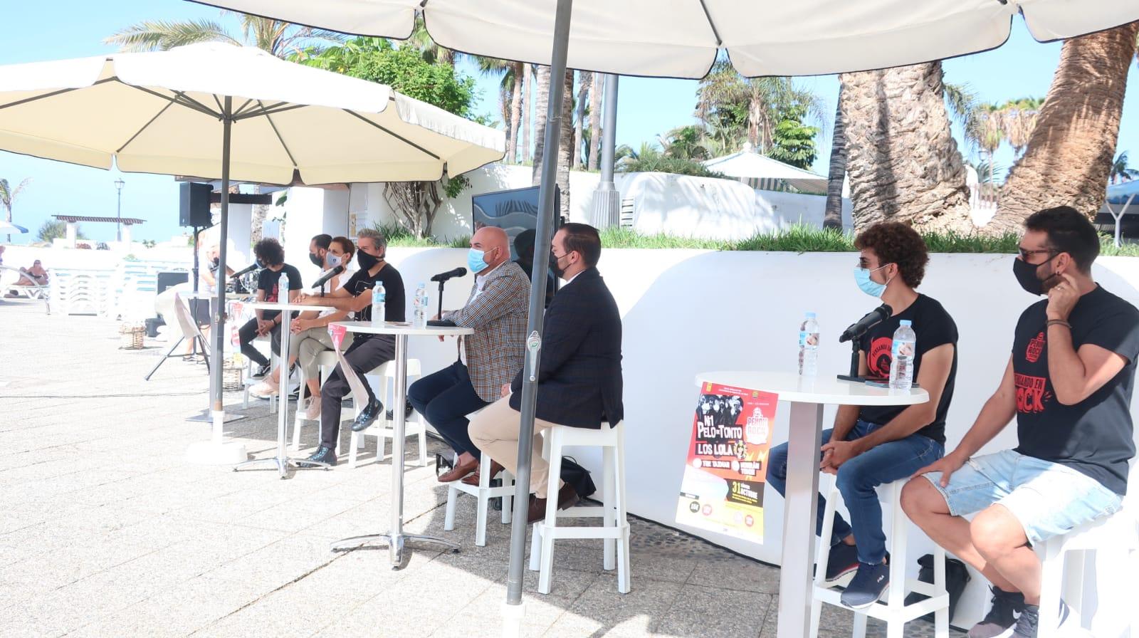 Presentación del Festival Peñón Rock de Puerto de la Cruz. Tenerife