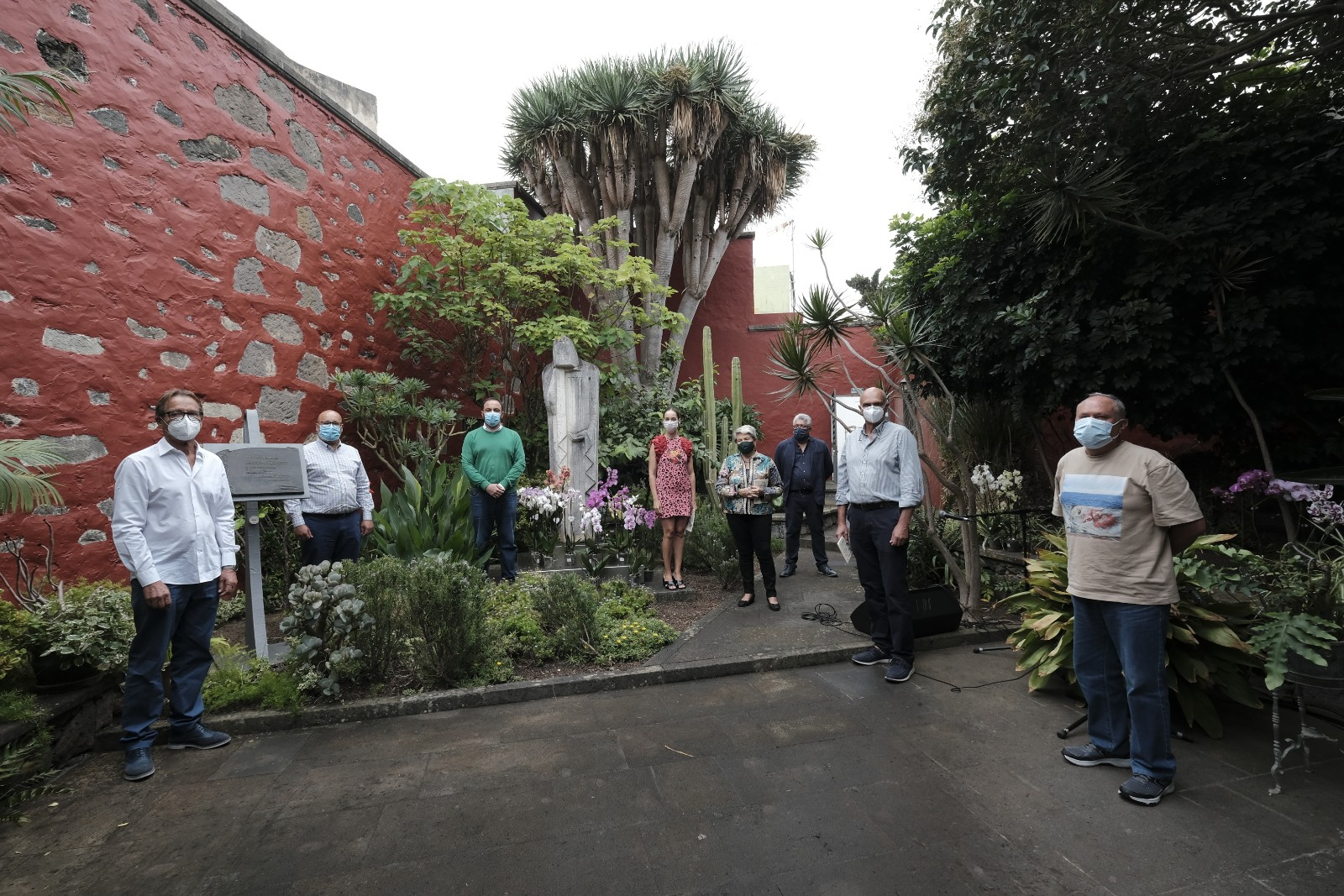 Acto en la Casa Museo Tomás Morales en Moya. Gran Canaria