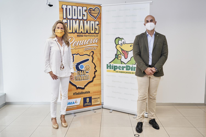 Marian Forminaya (CB Gran Canaria) y Carlos García (HiperDino)