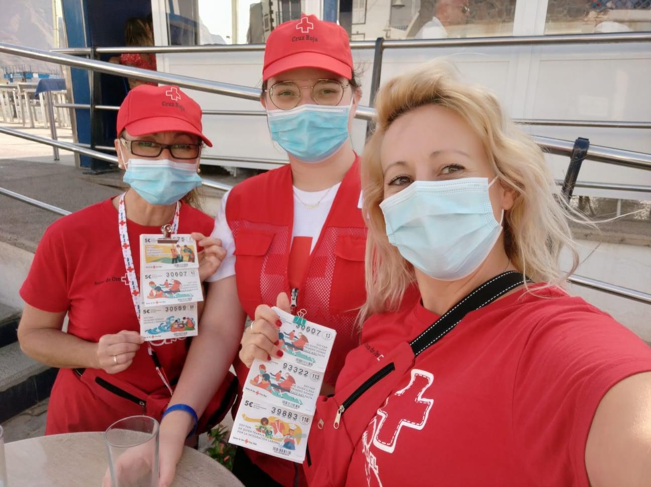 Voluntarios del Sorteo de Oro de Cruz Roja