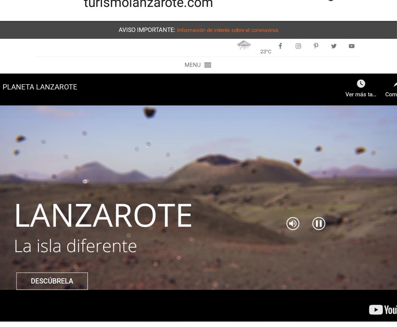 Web promocional de Turismo Lanzarote