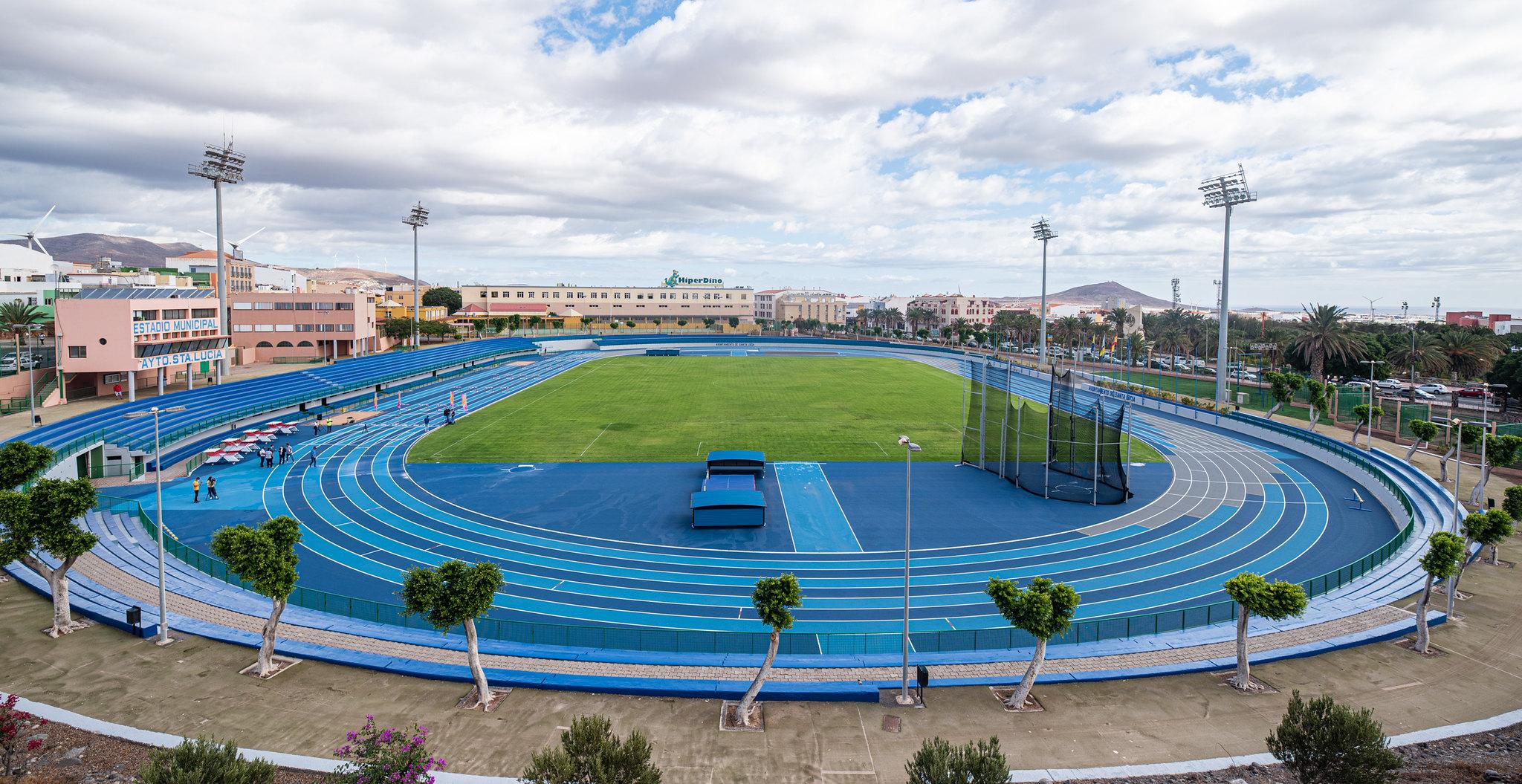 Reapertura del Estadio de Atletismo de Vecindario, Santa Lucía. Gran Canaria