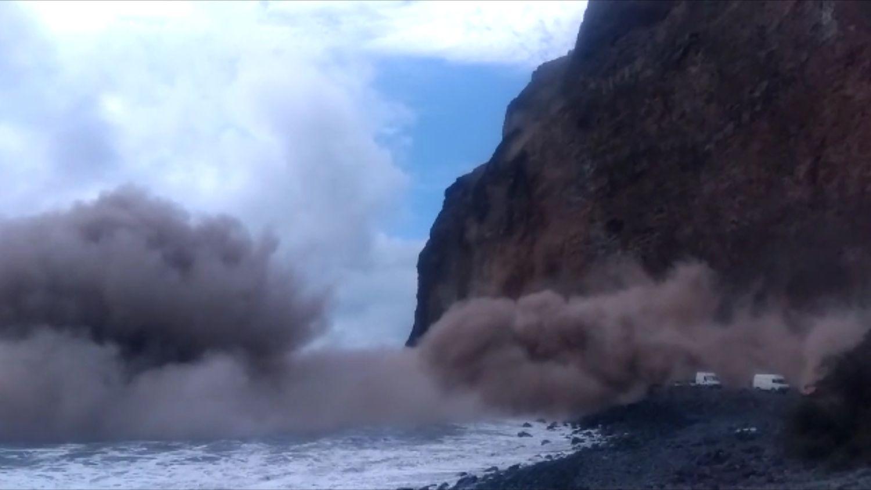 Derrumbe en La Gomera. CanariasNoticias.es