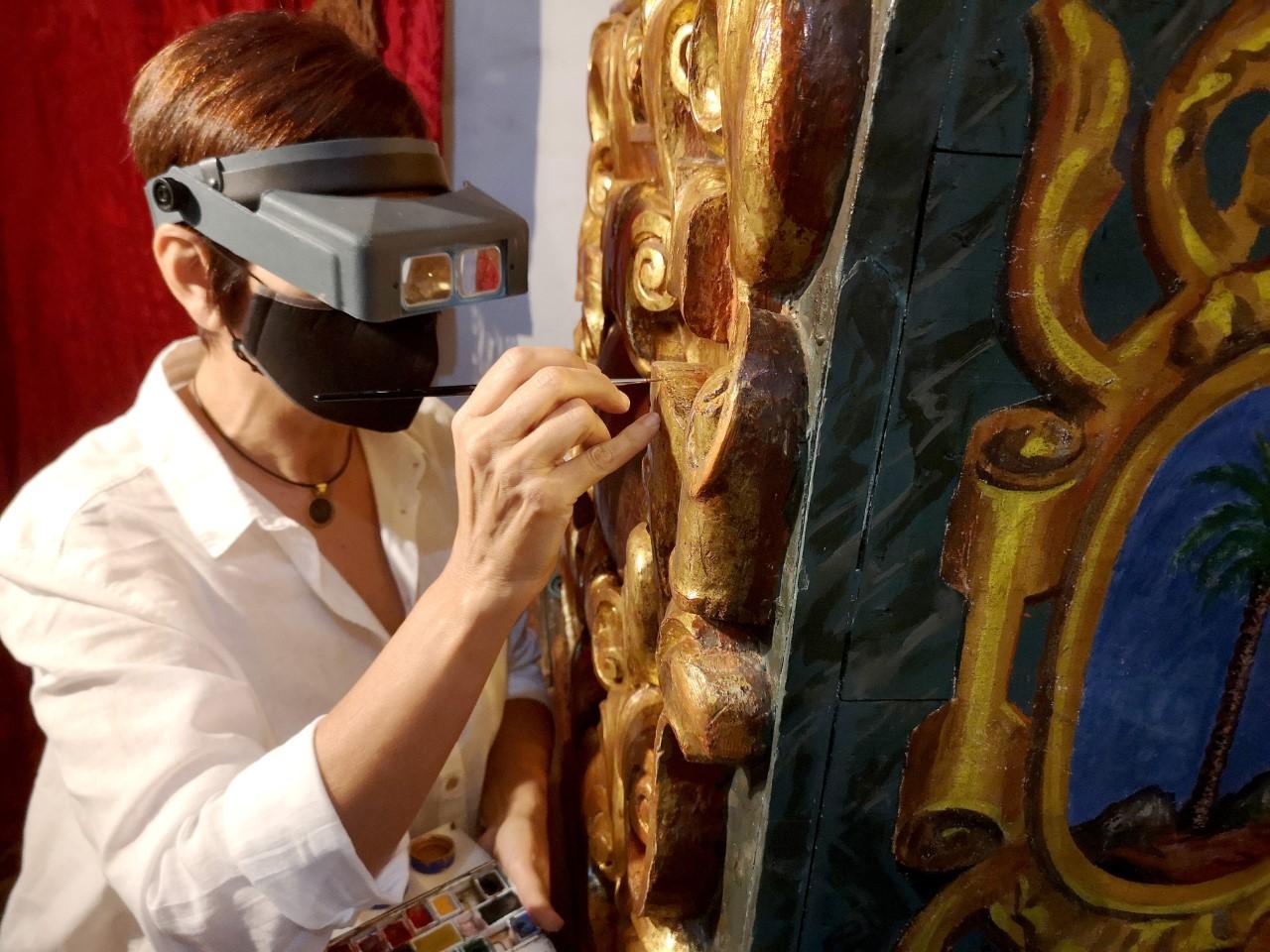 Restauración y conservación del retablo mayor del Santuario de Las Nieves