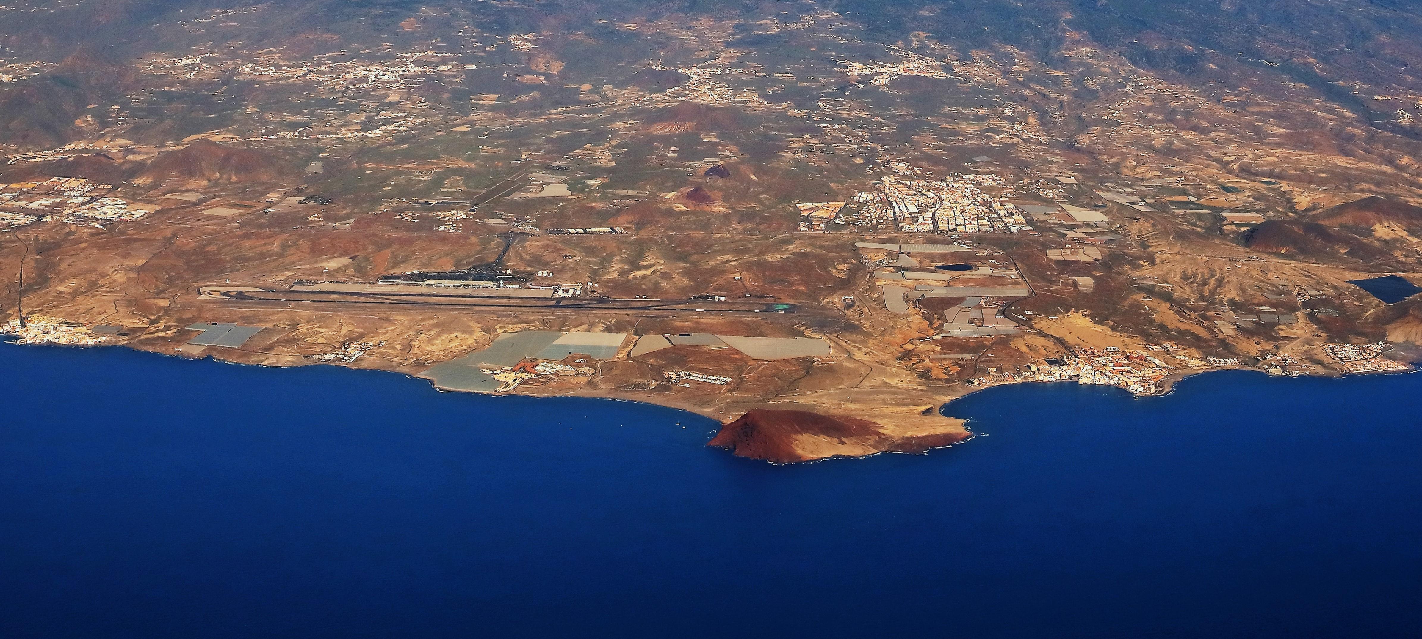 Vista aéreas de Granadilla de Abona. Tenerife