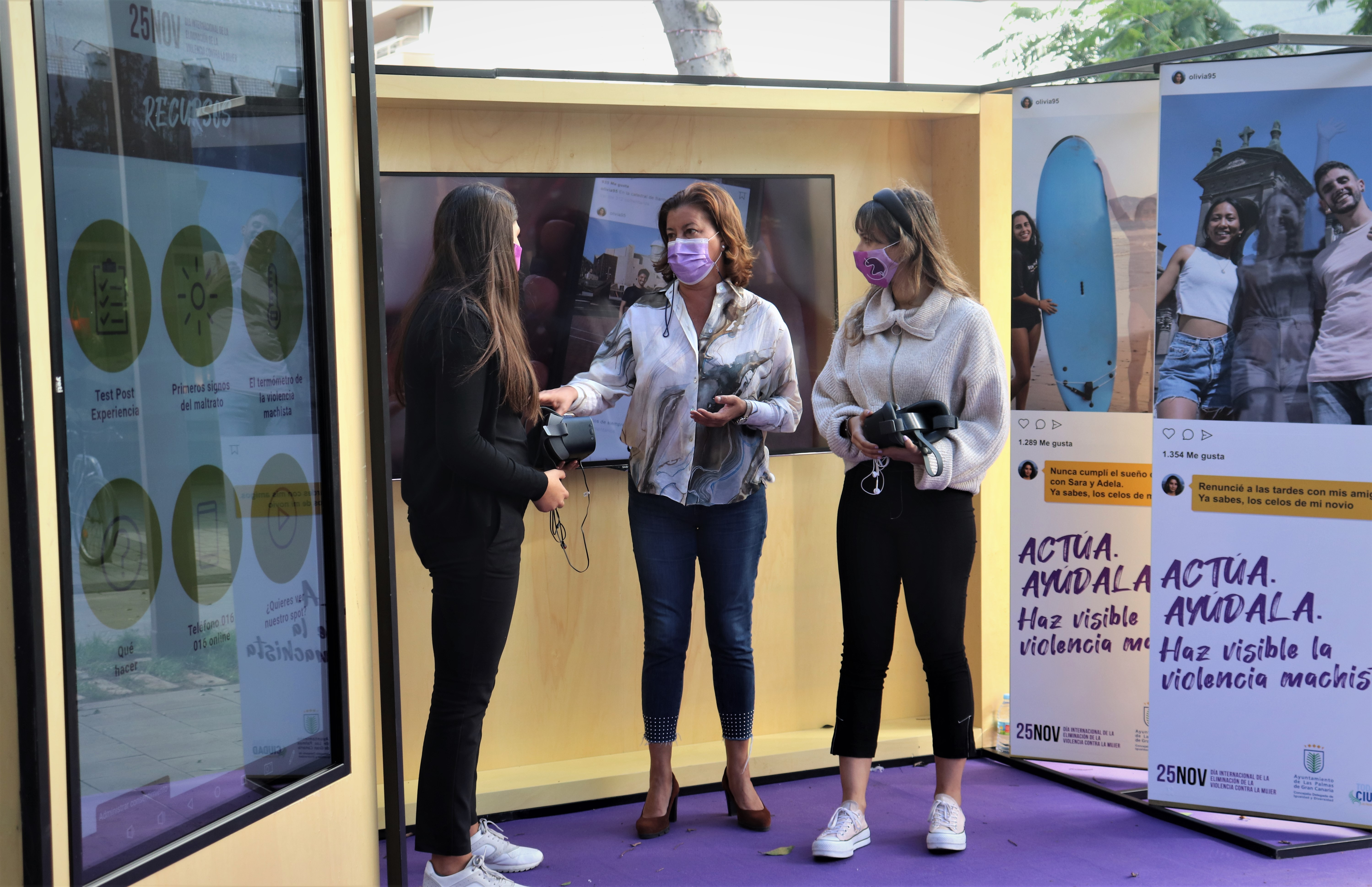 Stand de realidad virtual con motivo Día Internacional de la Eliminación de la Violencia Contra la Mujer / CanariasNoticias.es