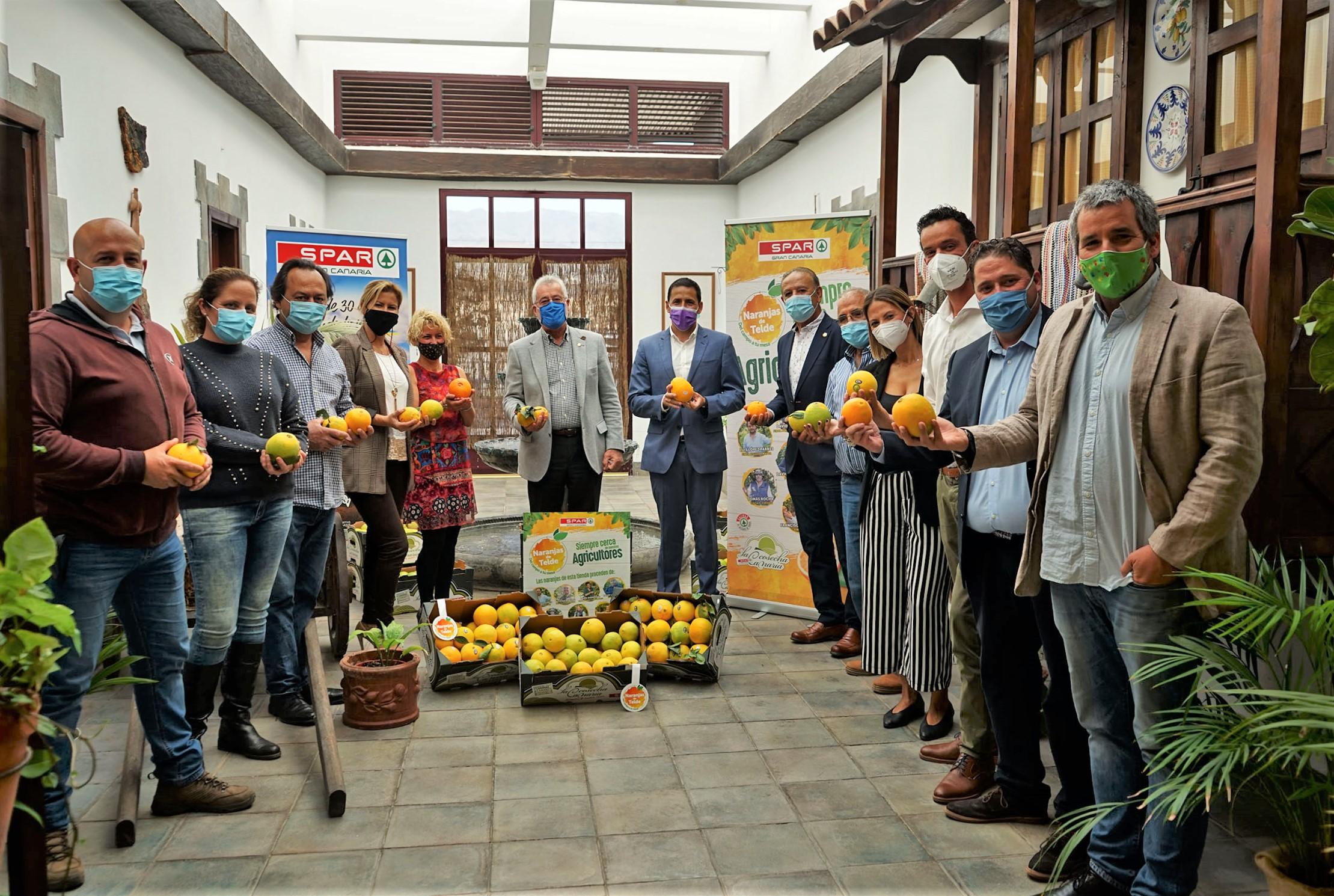 Spar Gran Canaria comercializa 255.000 kilos de naranjas de Telde en sus 19 tiendas del municipio