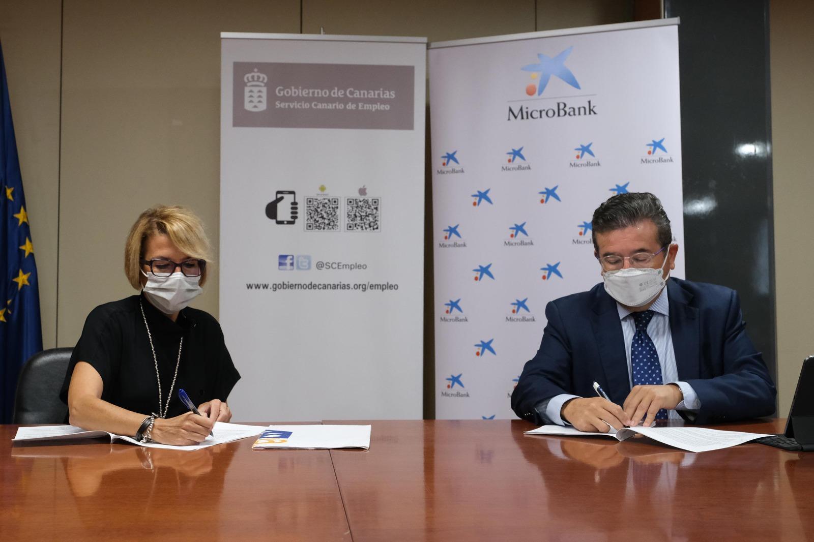 Servicio Canario de Empleo y MicroBank incentivan con un millón en microcréditos el emprendimiento y el autoempleo
