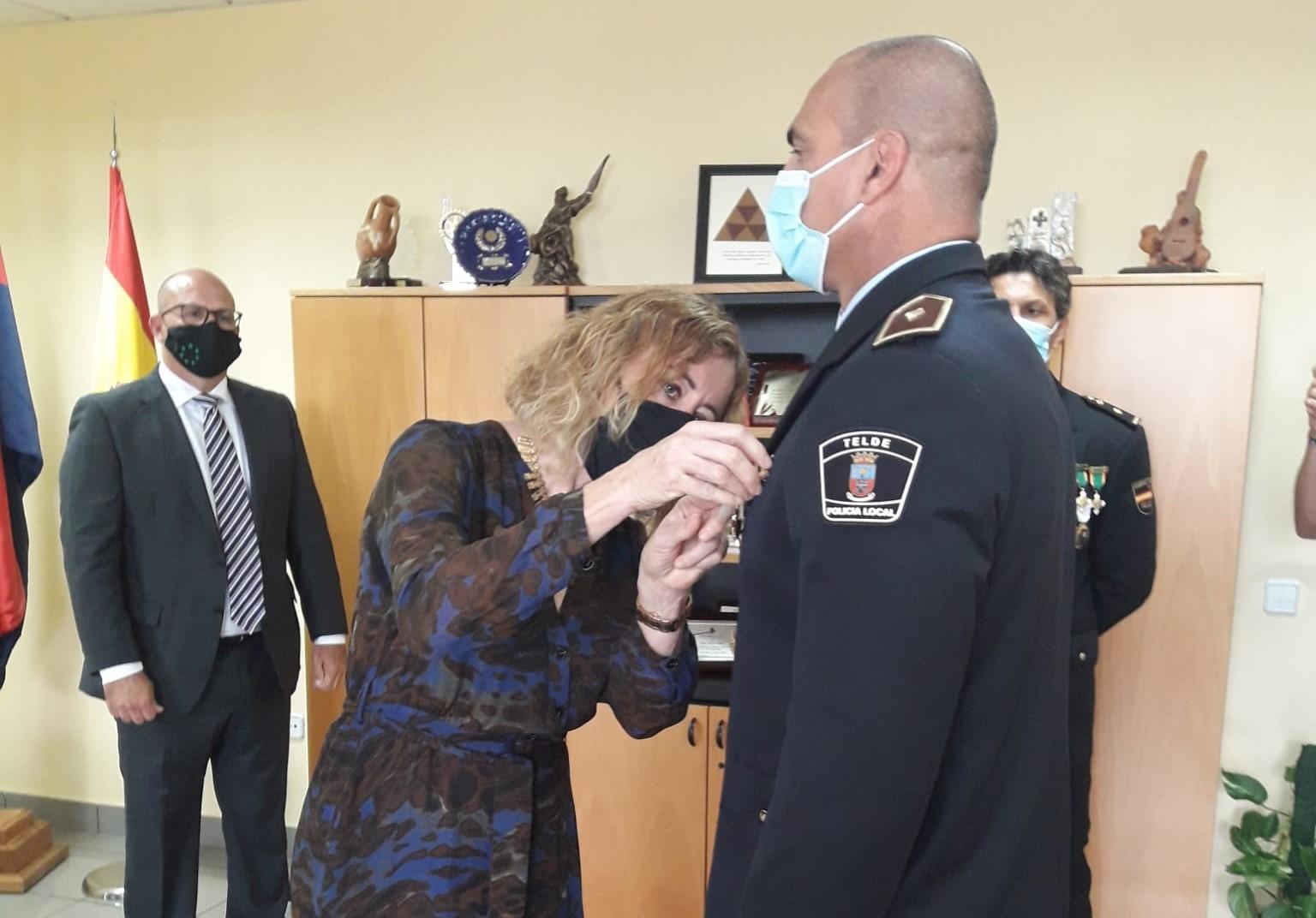 El agente local de Telde José Luis del Rosario que recibe Cruz al Mérito Policial del Ministerio del Interior