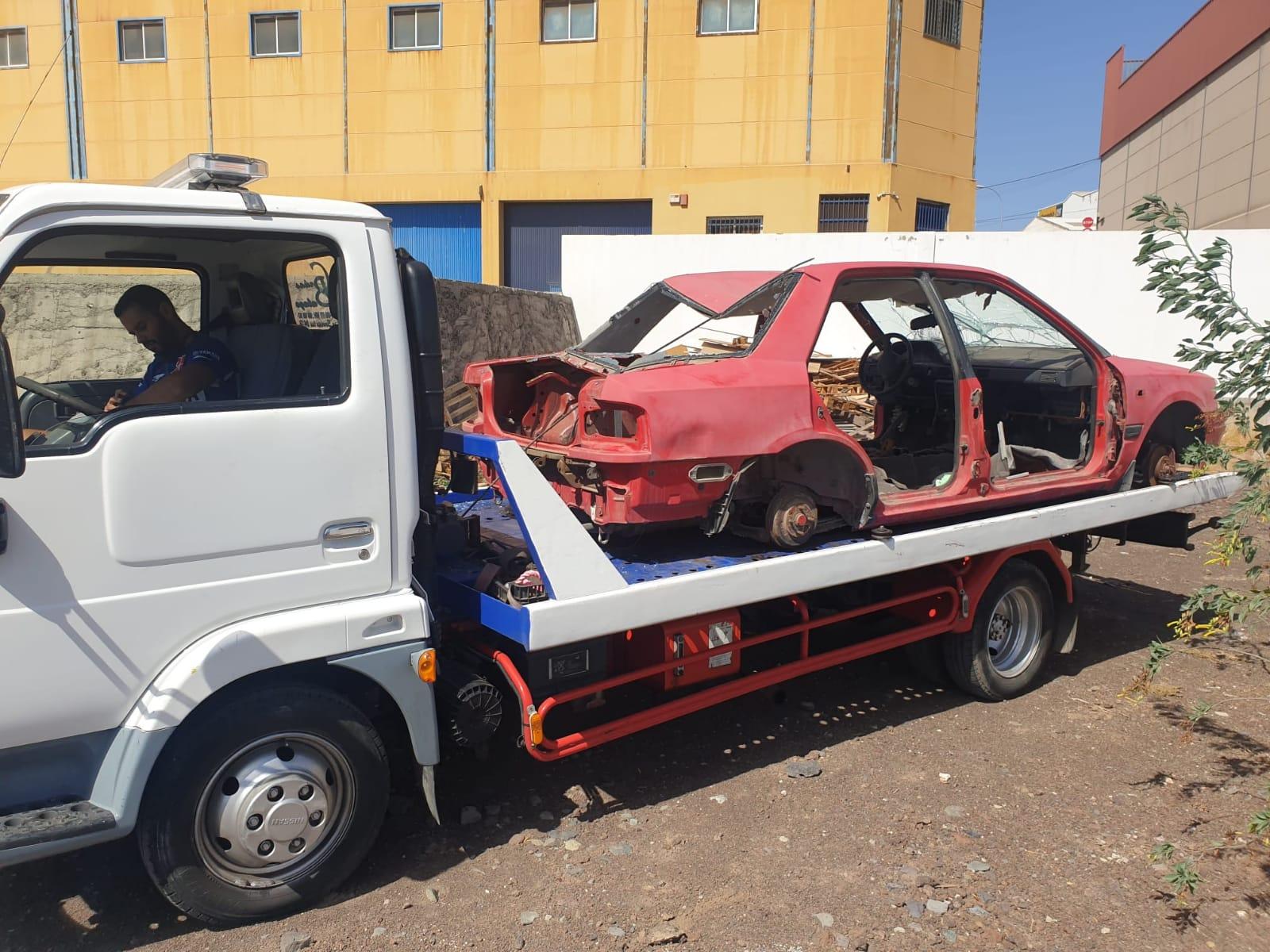 Vehículos retirados de la vías públicas de Telde / CanariasNoticias.es