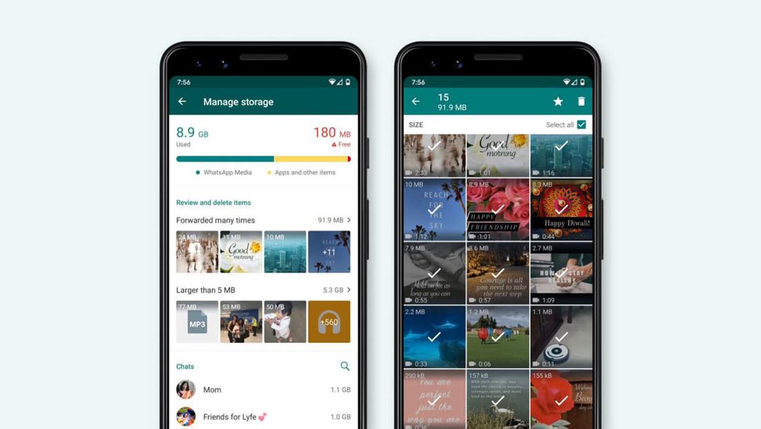 WhatsApp lanza una nueva función que facilita la liberación de espacio en un dispositivo