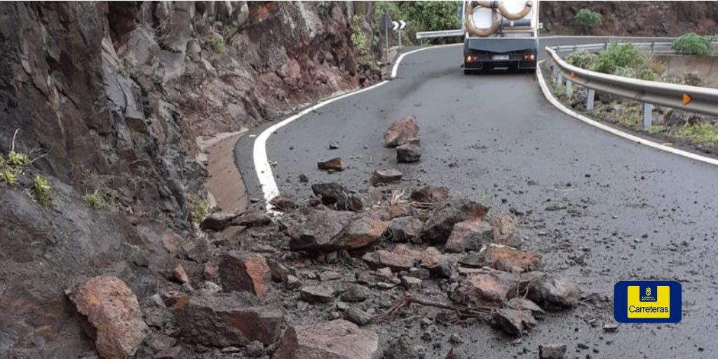 Desprendimientos en las carretera de Gran Canaria / CanariaNoticias.es