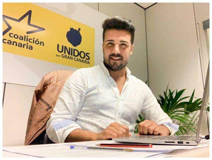 David Suárez, concejal CC-UxGC del Ayuntamiento de Las Palmas de Gran Canaria / CanariasNoticias.es