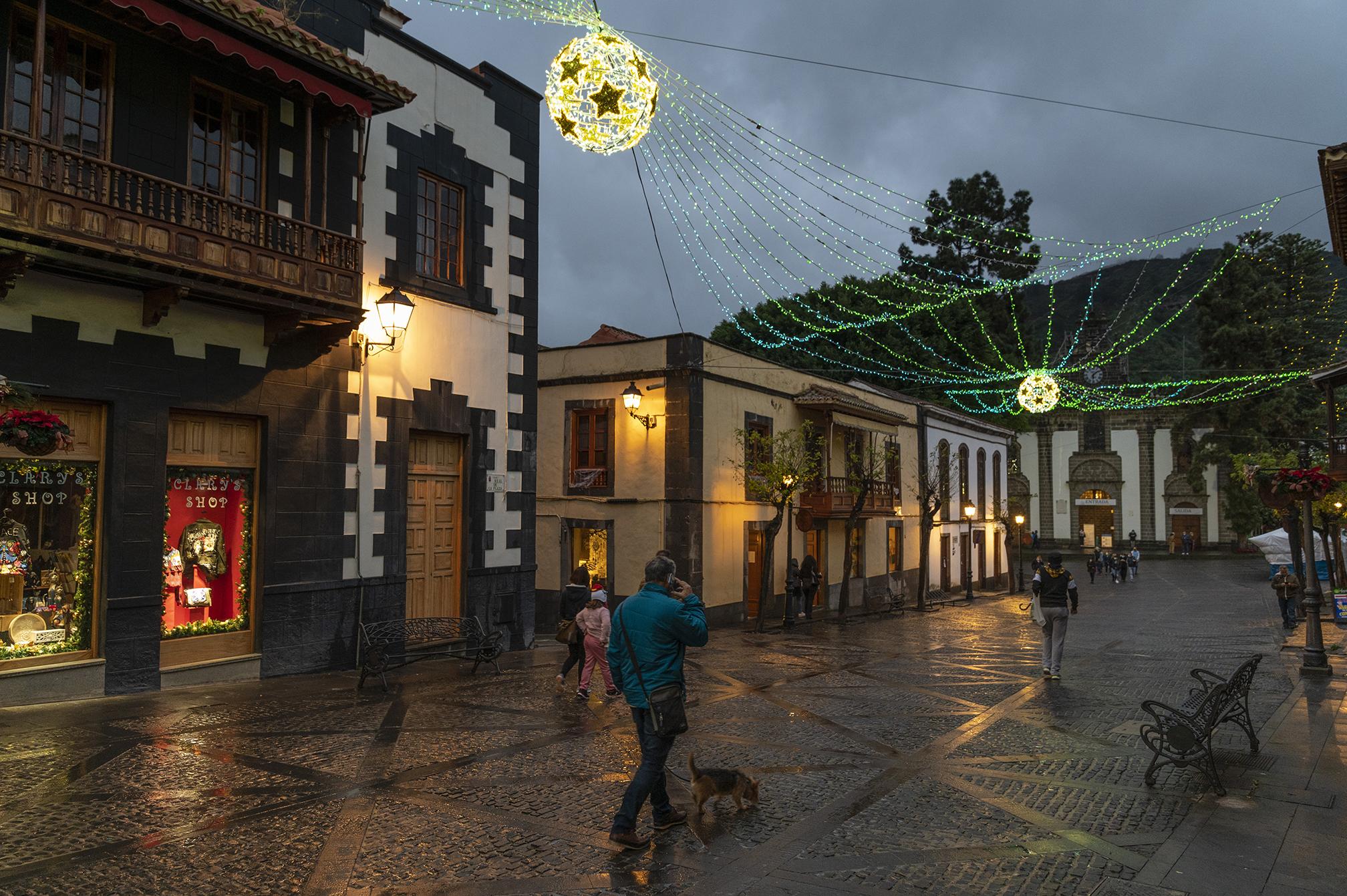 Decoración de Navidad en las calles de Teror / CanariasNoticias.es