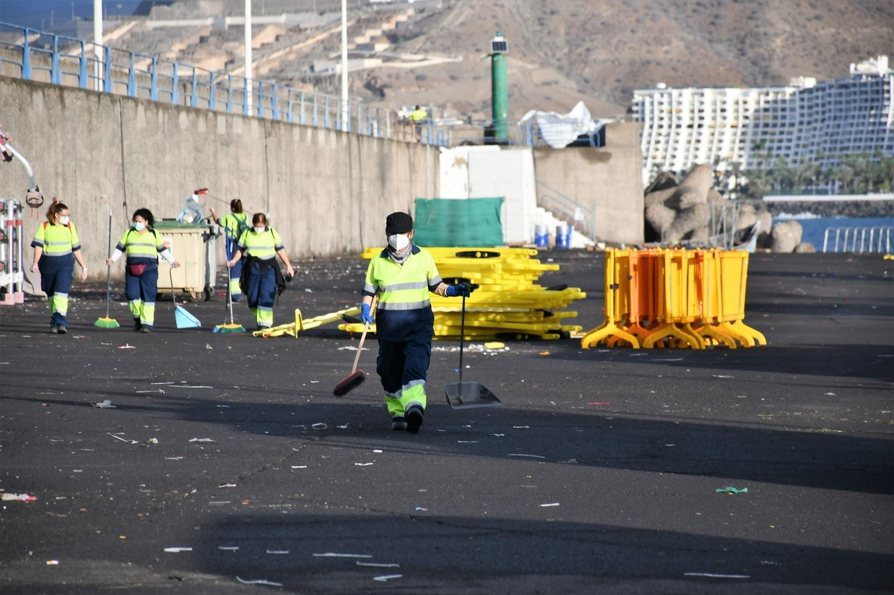 El Muelle de Arguineguín recupera  la normalidad/CanariasNoticias.es