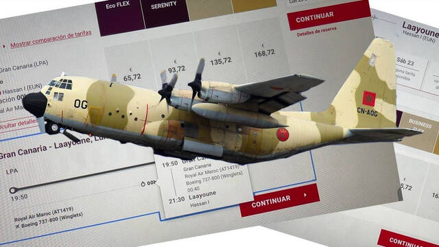 C-130H-LM Hércules, de la aerolínea Royal Moroccan Air Force/ canariasnoticias