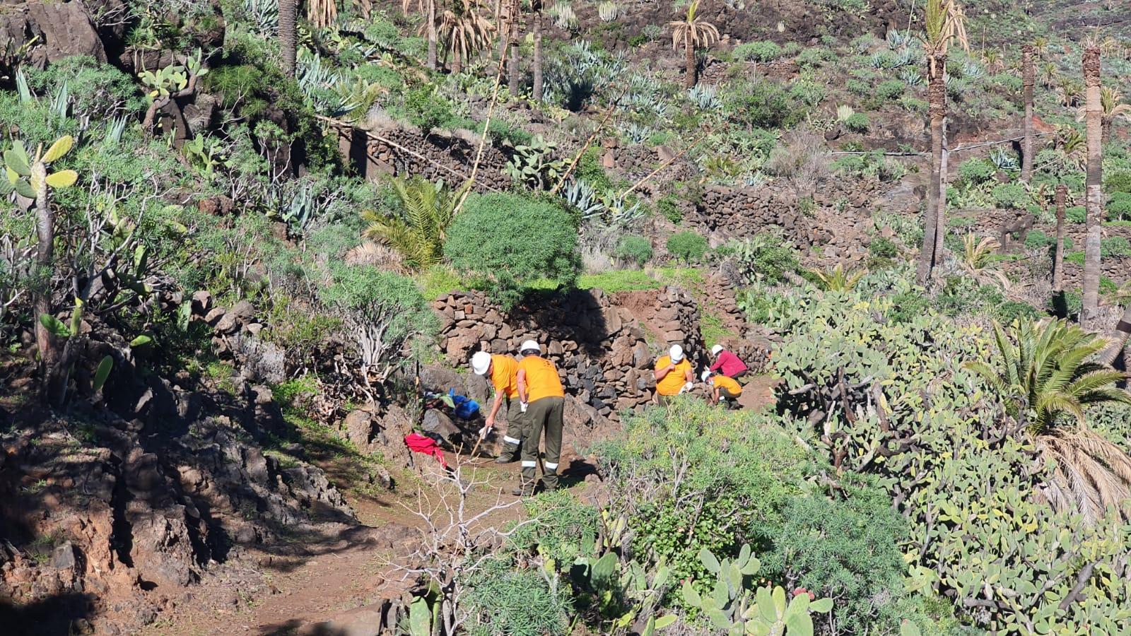 Operarios de Gesplan en La Gomera / CanariasNoticias.es