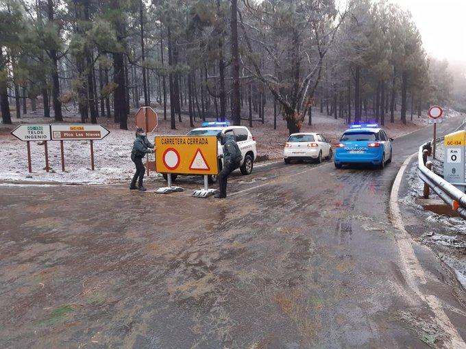 Heladas en la cumbre de Gran Canaria/ canariasnoticias.es