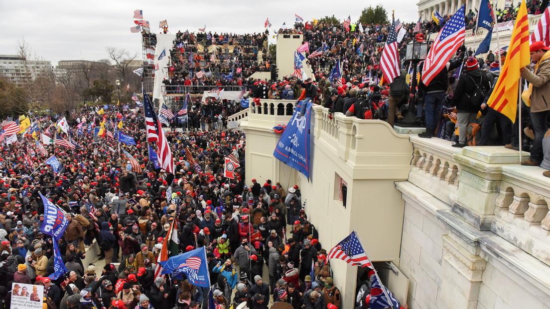Manifestantes de Donald Trump en el Capitolio/ canariasnoticias.es