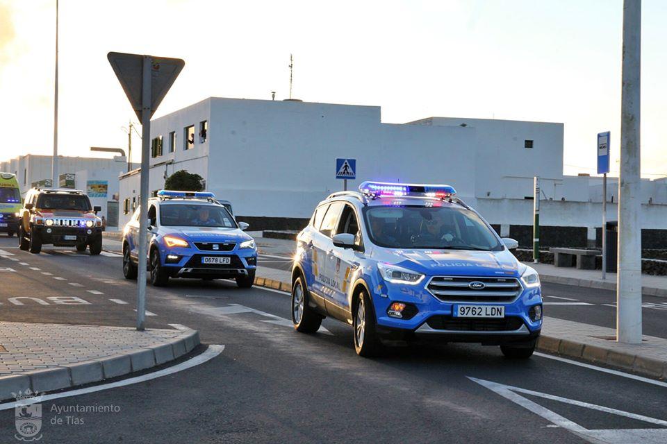 Policía local de Tías/ canariasnoticias.es