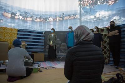 Guacimara Medina durante el pase a medios de la obra 'Moria' / CanariasNoticias.es