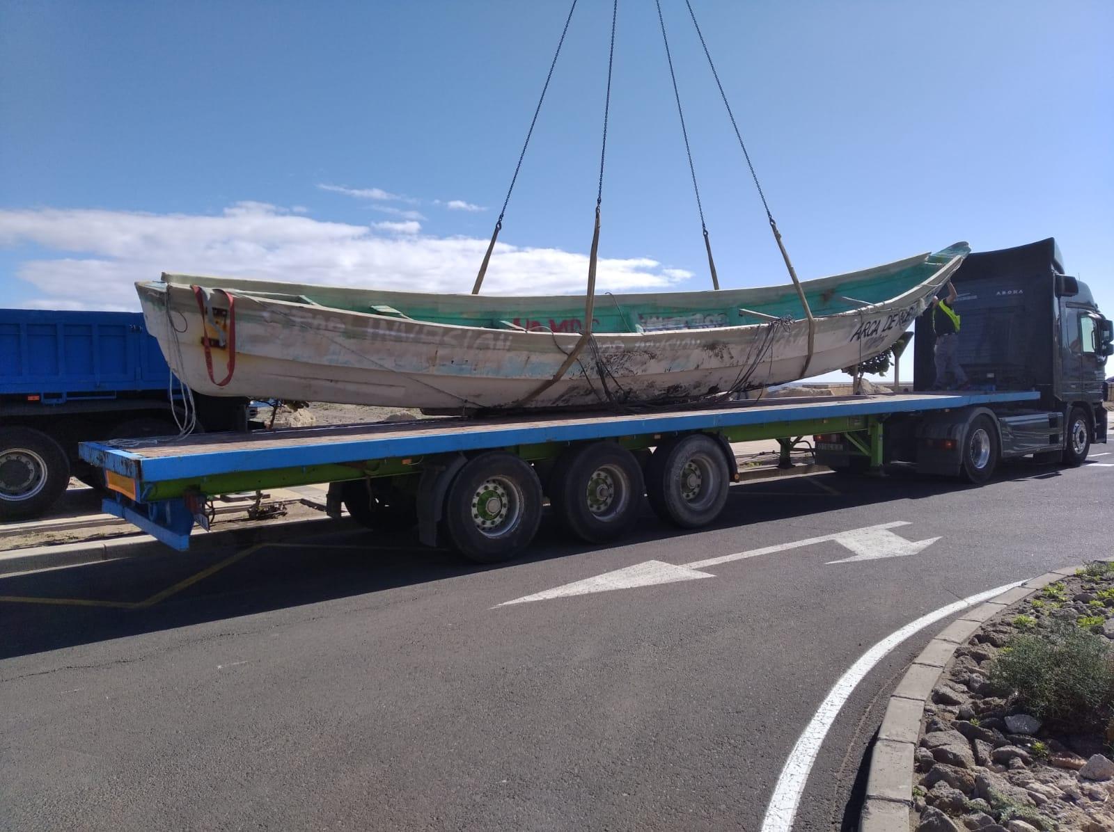 Retirada de cayucos de Granadilla de Abona / CanariasNoticias.es