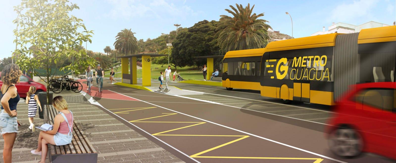 El Ayuntamiento de Las Palmas de Gran Canaria comienza las obras del tramo de MetroGuagua comprendido entre Juan XXIII y Emilio Ley