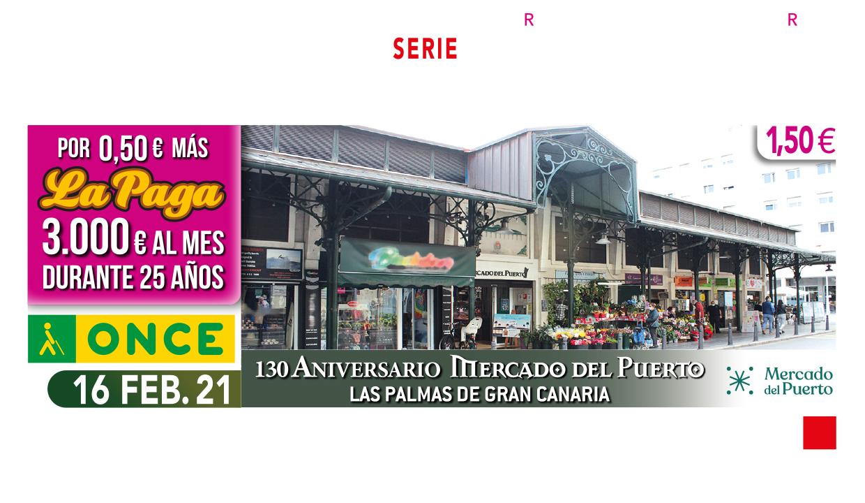 Cupón de la ONCE del Mercado Del Puerto / CanariasNoticias.es