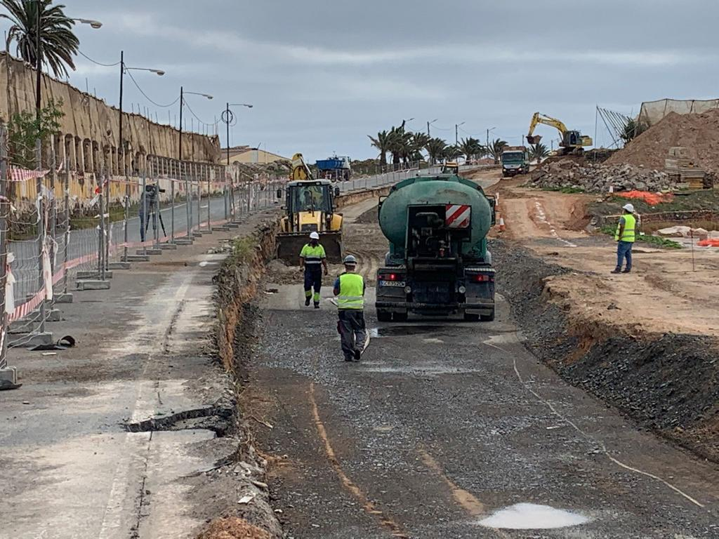 Obras de la carretera de Melenara en Telde (Gran Canaria) / CanariasNoticias.es