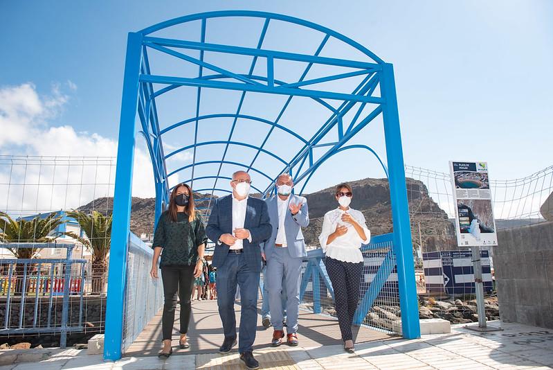 El Cabildo de Gran Canaria invierte 1,5 millones en la renovación de espacios turísticos de Mogán y se compromete a incrementar la partida