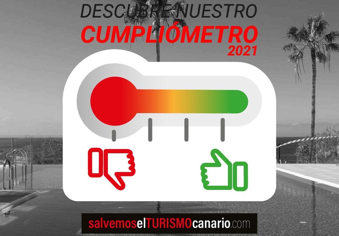 Cumpliómetro de patronales turísticas Ashotel, FEHT, Asofuer y FTL / CanariasNoticias.es