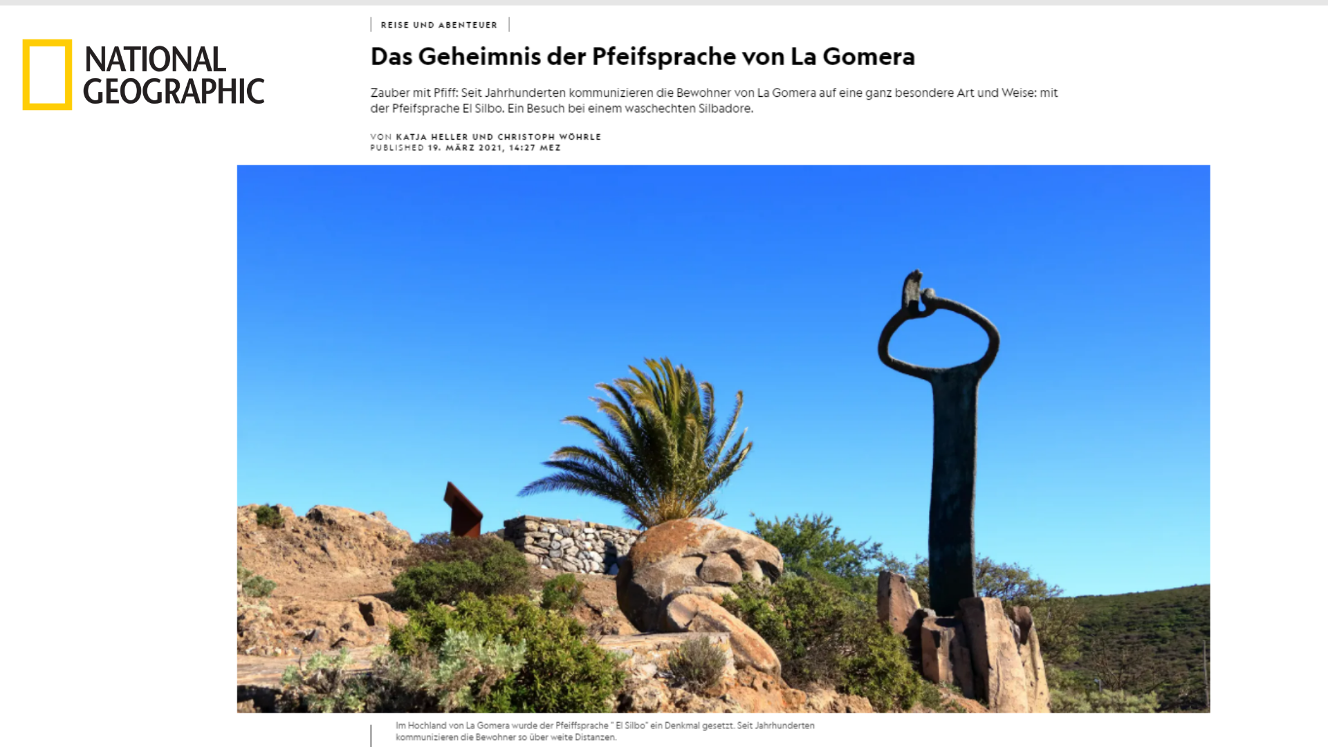 El silbo gomero en National Geographic / CanariasNoticias.es
