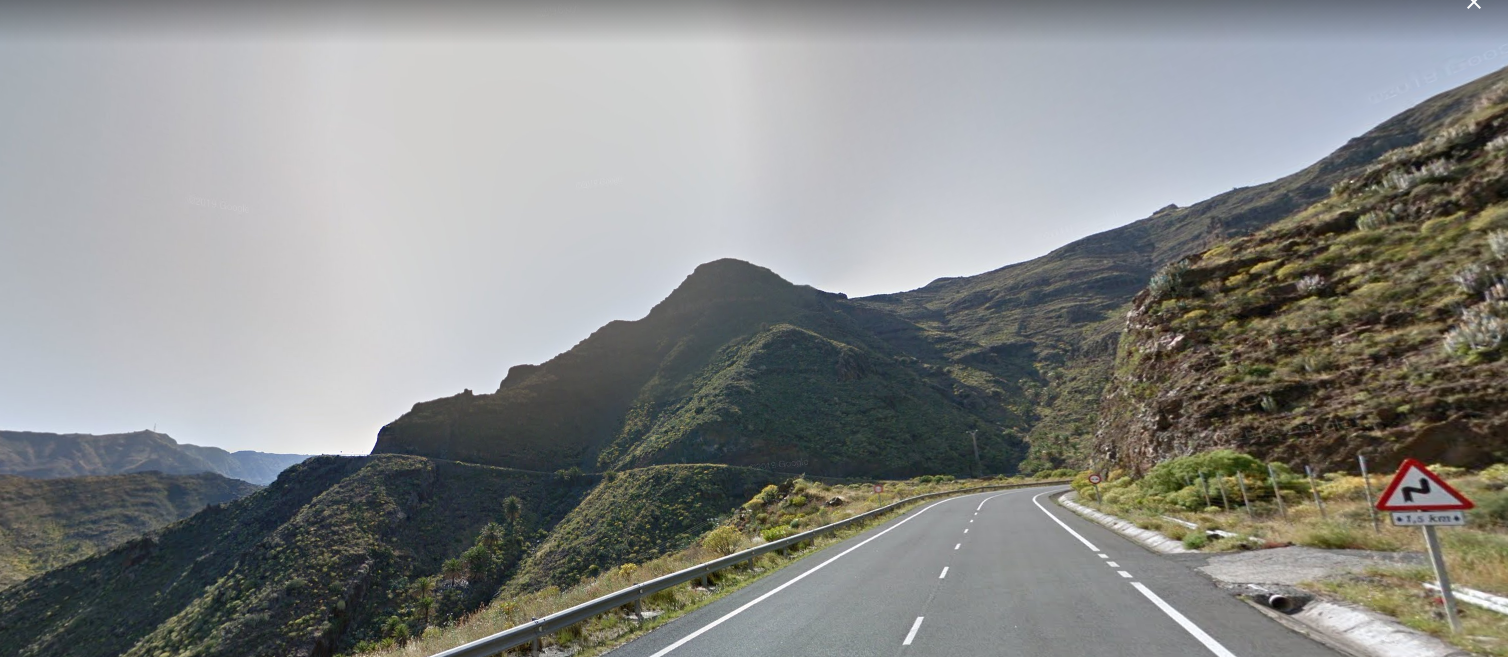 Carretera GM-1 de San Sebastián de La Gomera a Hermigua / CanariasNoticias.es