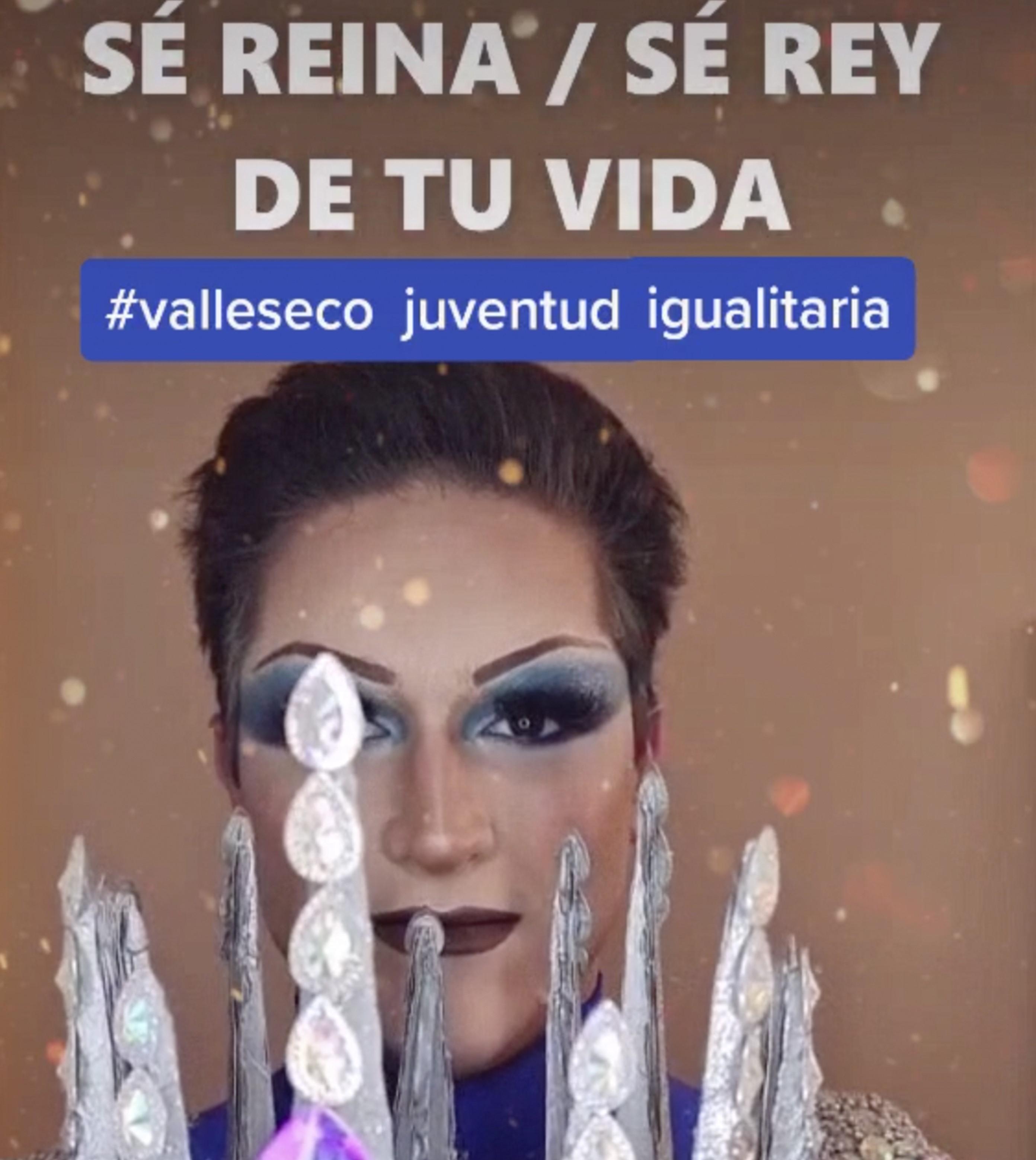 """Cartel ganador del concurso de TikTok """"Juventud igualitaria"""" de Valleseco / Canarias Noticias.es"""