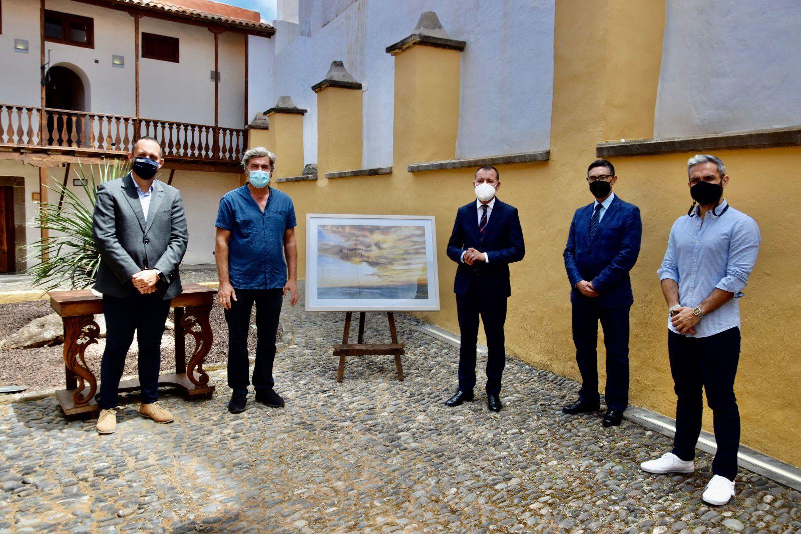 """Gabriel Ortuño dona su obra """"Sardina de Gáldar"""" / CanariasNoticias.es"""