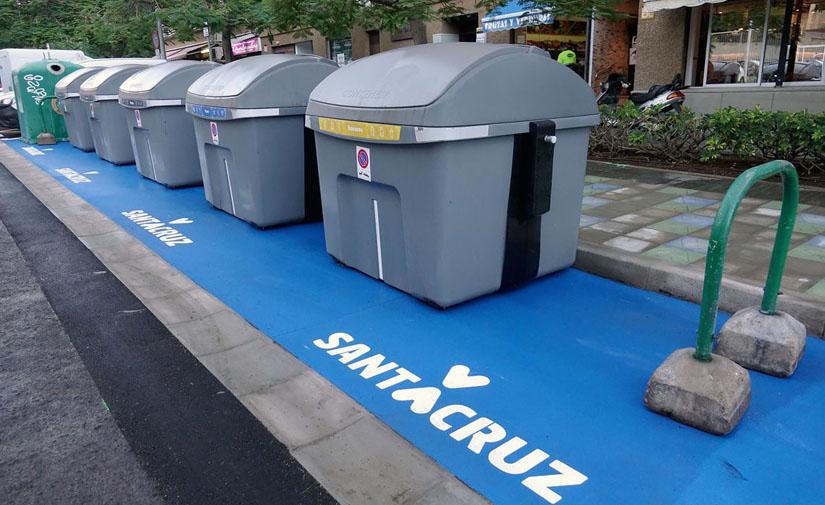 Contenedores de reciclaje de Santa Cruz de Tenerife / CanariasNoticias.es
