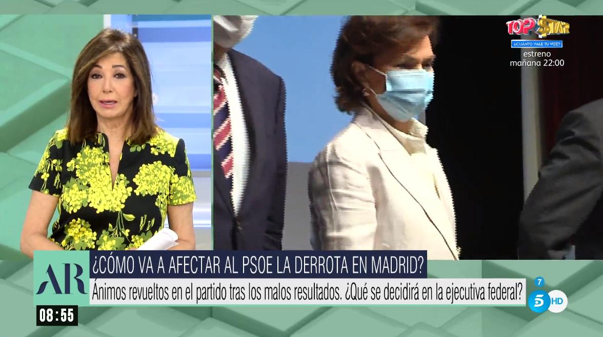 Ana Rosa Quintana. Carmen Calvo/ canariasnoticias