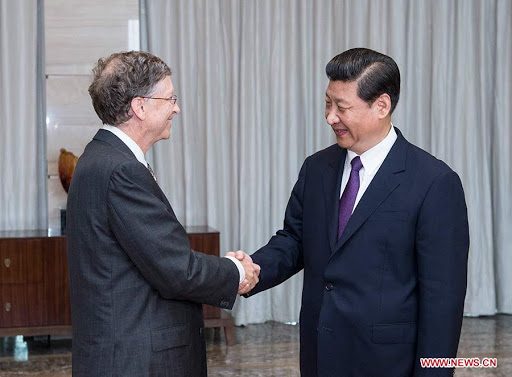 Bill Gates y Xi Jing Ping