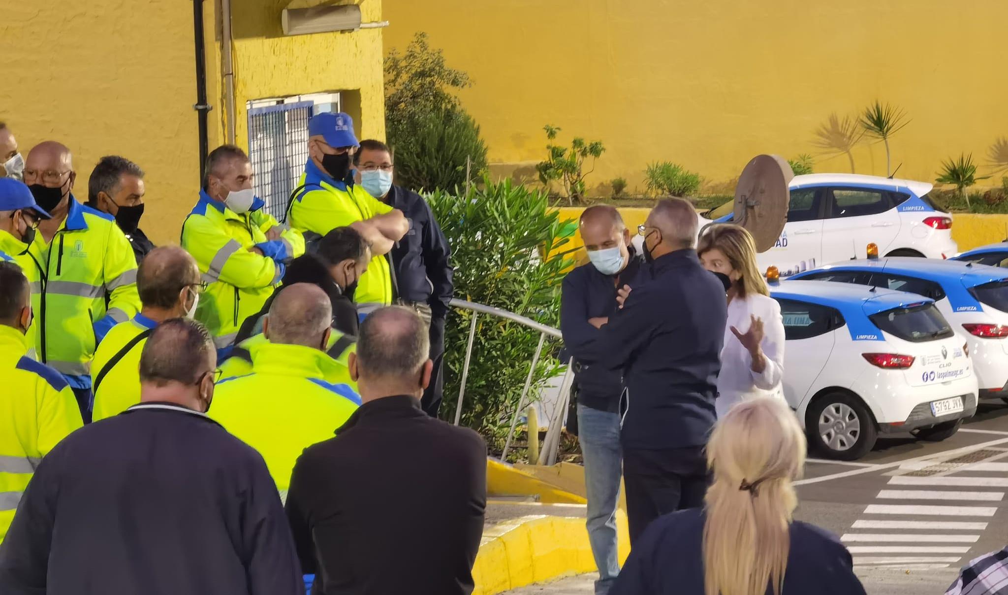 Protestas en el Servicio de Limpieza de Las Palmas de Gran Canaria / CanariasNoticias.es