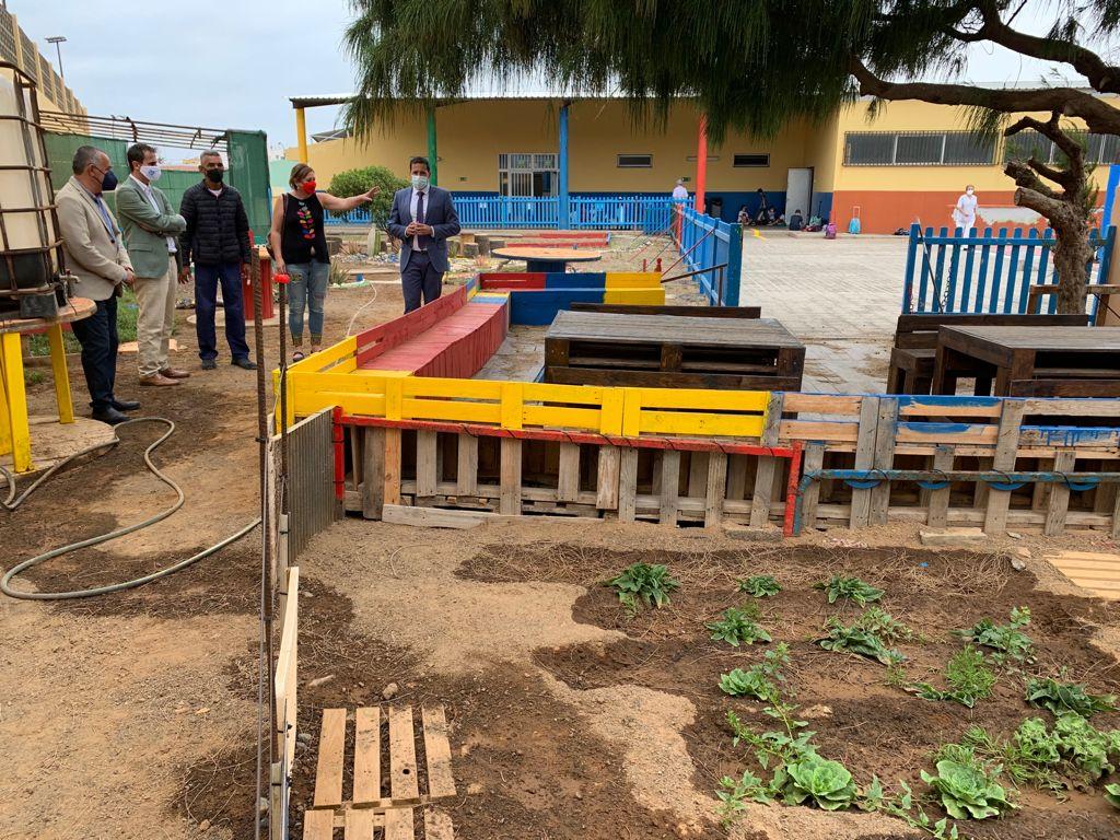 Huerto escolar en el Colegio de La Garita en Telde (Gran Canaria) / CanariasNoticias.es