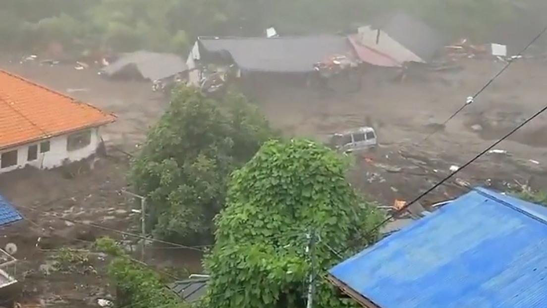 Corrimiento de tierras. Japón