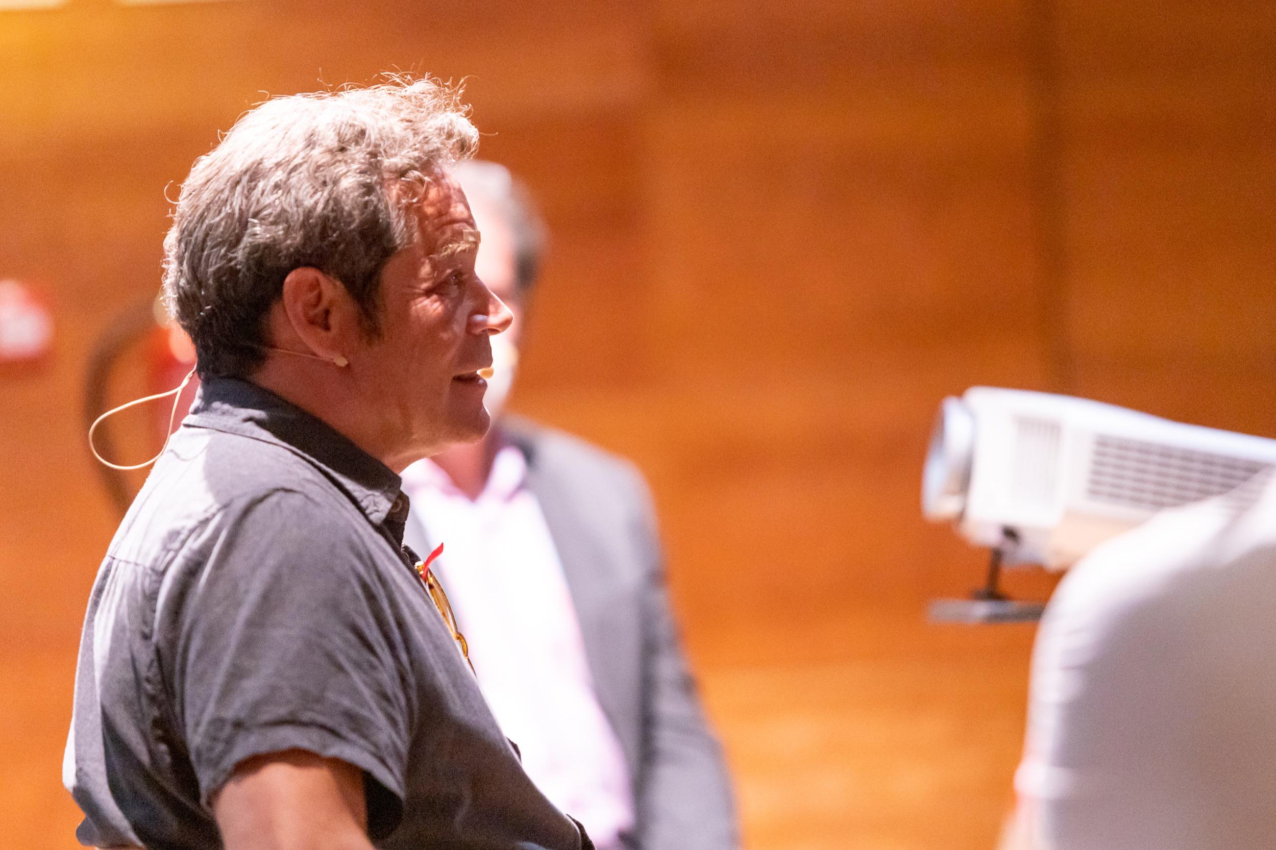 Jorge Sanz en el taller de cine de la Universidad de Verano de Adeje / CanariasNoticias.es