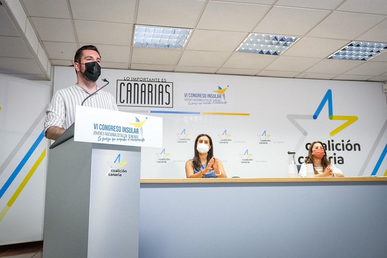 Serafín Mesa, secretario general de Jóvenes Nacionalistas de Tenerife (JNT) / CanaraisNoticias.es