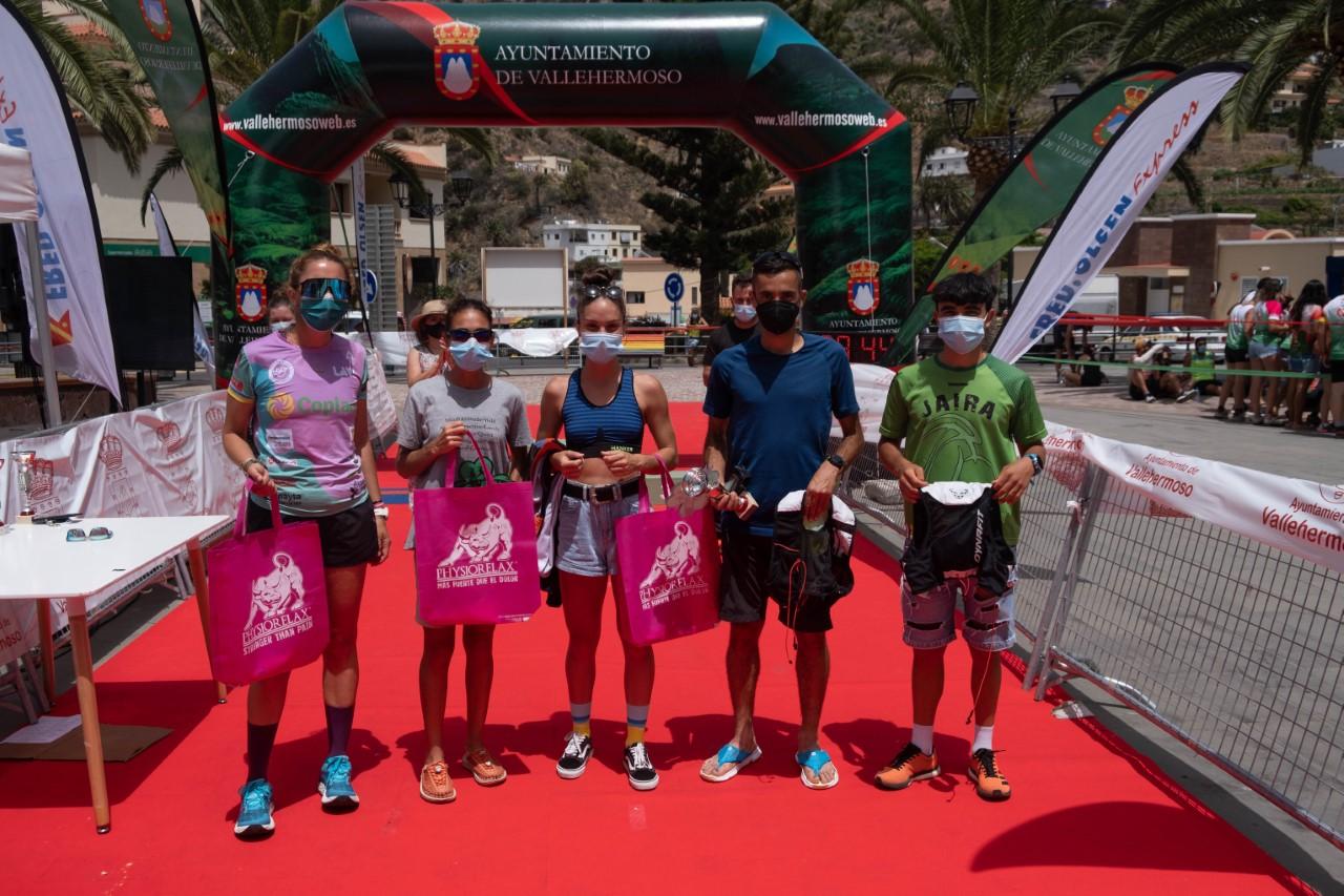 Cristofer Clemente y Luz María Martín ganadores de la Trebol Trail de Vallehermoso