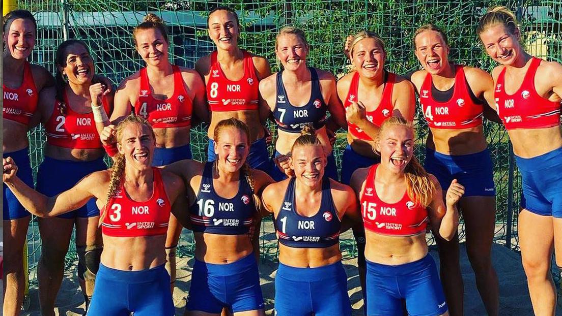 Equipo femenino de balonmano playa de Noruega/ canariasnoticias