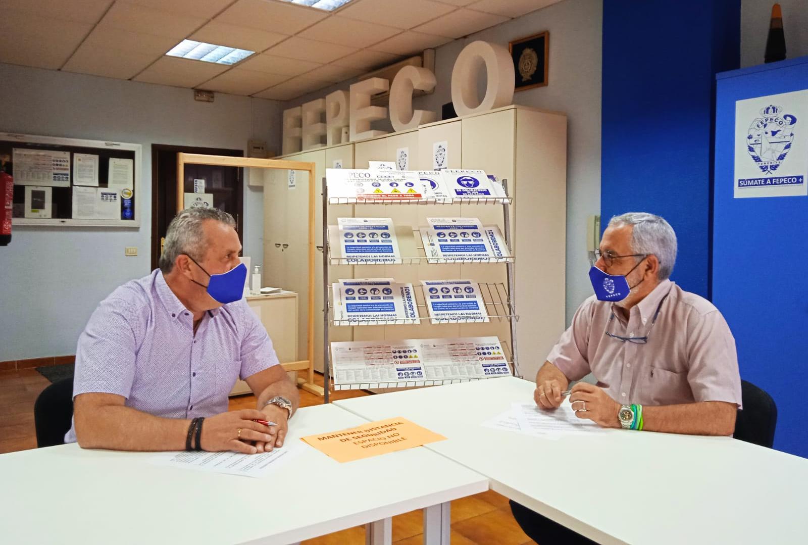 Óscar Izquierdo presidente de FEPECO  y Antonio Koury Técnico Superior PRL de FEPECO / CanariasNoticias.es