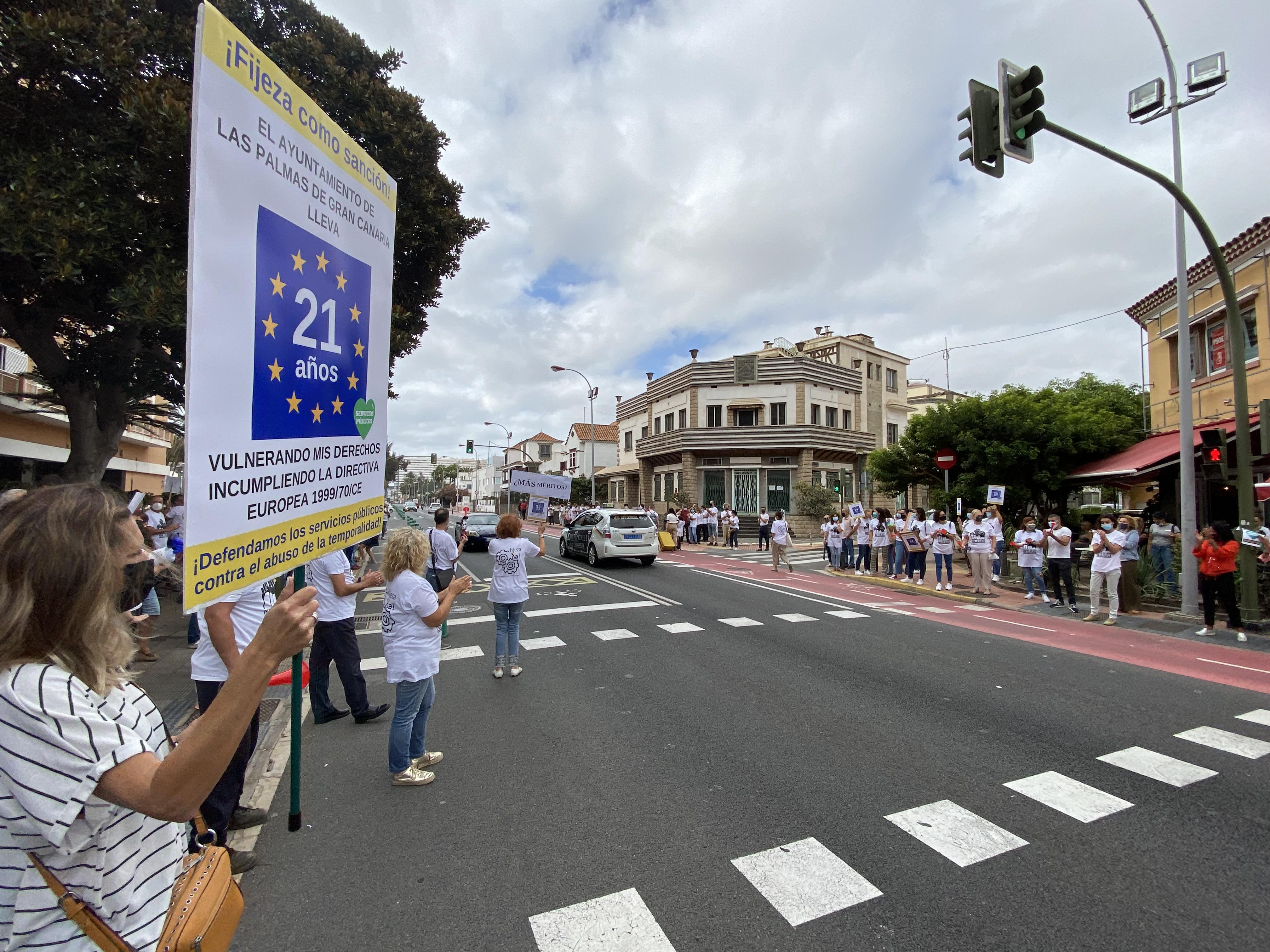 El PP muestra su apoyo a los trabajadores municipales de Las Palmas de Gran Canaria / CanariasNoticias.es