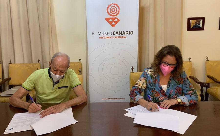 Firma del convenio de colaboración entre El Museo Canario y la Fundación Alfredo Kraus / CanariasNoticias.es