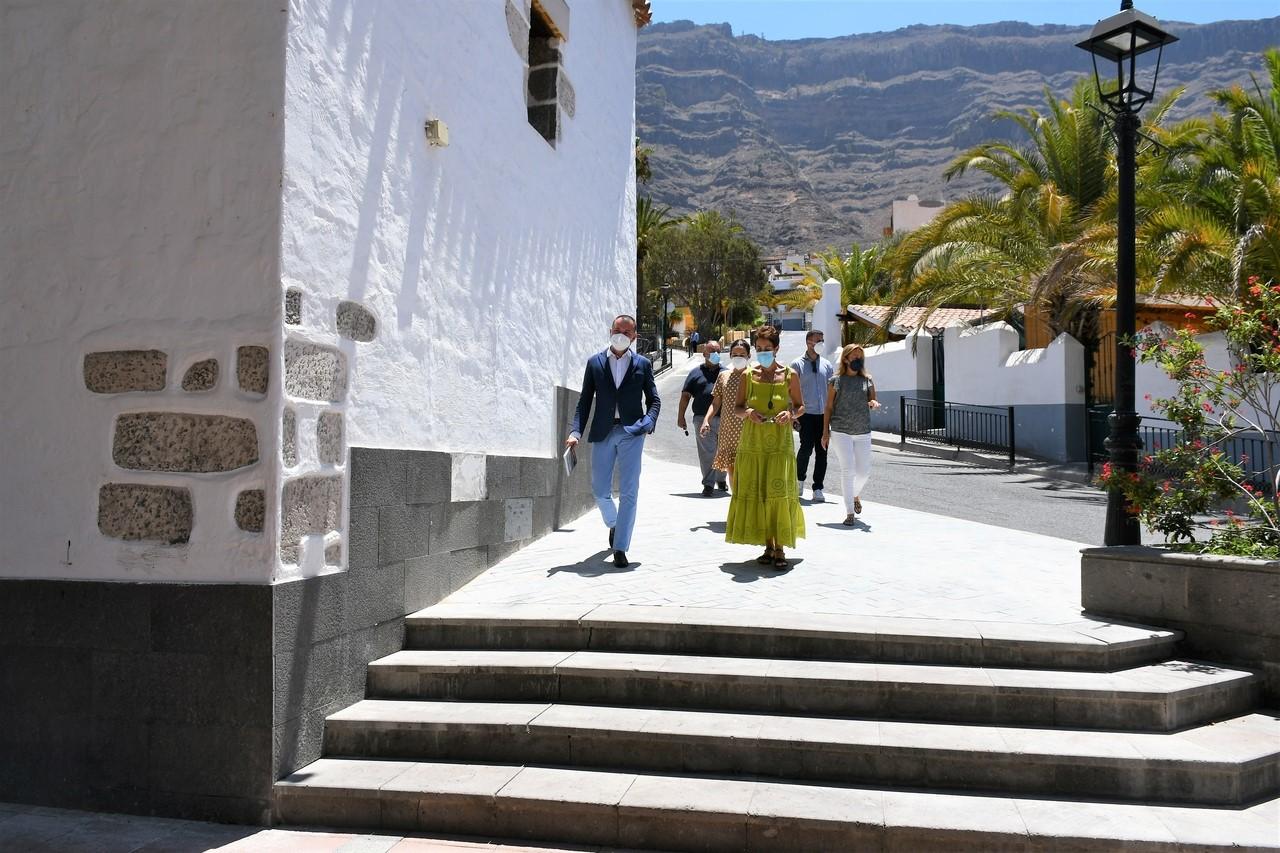 Onalia Bueno y Teodoro Sosa. Mogán/ canariasnoticias